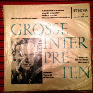 Ludwig van Beethoven, Yehudi Menuhin, Wiener Philharmoniker, Constantin Silvestri - Konzert Für Violine Und Orchester D-dur Op. 61  (LP, Album, Mono)