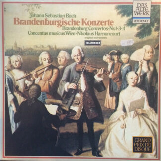 Johann Sebastian Bach - Concentus Musicus Wien, Nikolaus Harnoncourt - Brandenburgische Konzerte 1,3,4 (LP, RE, RP, GRA)