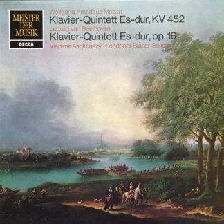 Wolfgang Amadeus Mozart, Ludwig van Beethoven, Vladimir Ashkenazy, Londoner Bläser-Solosten* - Klavier-Quintet Es-dur, K.452 / Klavier-Quintet Es-dur, Op.16 (LP, Album)