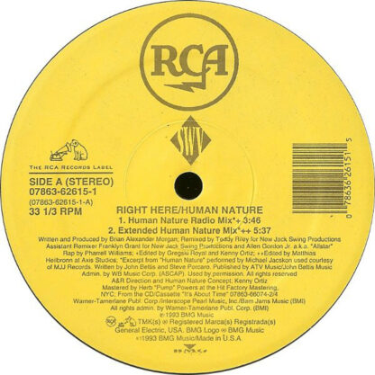 """SWV - Right Here / Human Nature (12"""")"""