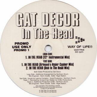 """Gat Decor - In The Head (2x12"""", Single, Promo)"""