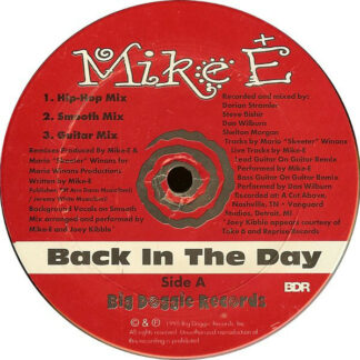 """Mike E (2) - Back In The Day (12"""", Maxi)"""