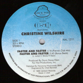 """DSK Featuring Christine Wilshire* - Faster And Faster (12"""")"""