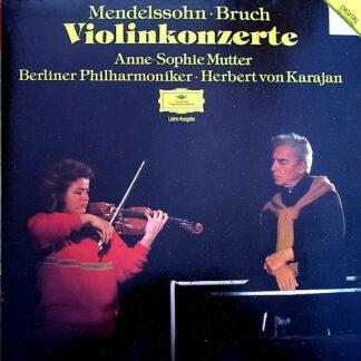 Mendelssohn* • Bruch*, Anne-Sophie Mutter, Berliner Philharmoniker, Herbert von Karajan - Violinkonzerte (LP, RE)