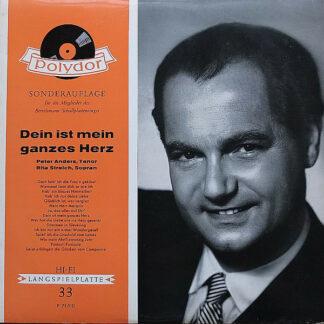 Peter Anders (2), Rita Streich - Dein Ist Mein Ganzes Herz (LP, Son)