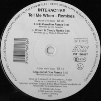 """Interactive - Tell Me When (Remixes) (12"""")"""