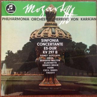 "Mozart*, Philharmonia Orchester*, Herbert von Karajan, Sidney Sutcliffe, Bernard Walton (2), Dennis Brain, Cecil James - Sinfonia Concertante Es-Dur KV 297b (10"")"