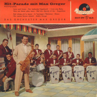 """Das Orchester Max Greger* - Hit-Parade Mit Max Greger (7"""", EP, Mono)"""