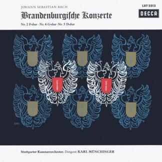 Johann Sebastian Bach - Stuttgarter Kammerorchester, Karl Münchinger - Brandenburgische Konzerte  Nr. 2 F-dur ∙ Nr. 4 G-dur ∙ Nr. 5 D-dur (LP, Mono)