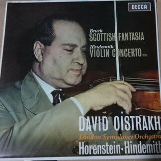 Bruch*, Hindemith*, David Oistrakh*, London Symphony Orchestra*, Horenstein* - Scottish Fantasia / Violin Concerto (LP, Album, RE)