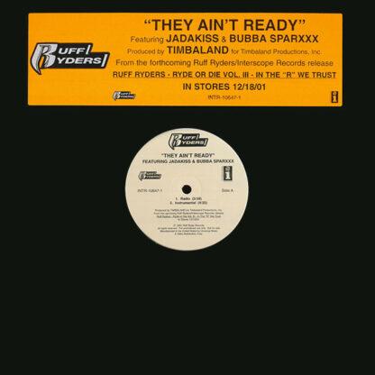 "Ruff Ryders Featuring Jadakiss & Bubba Sparxxx - They Ain't Ready (12"", Promo)"