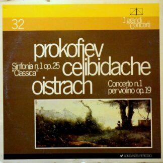 "Prokofiev*, Celibidache*, Oistrach* - Sinfonia N.1 Op.25 ""Classica"" / Concerto N.1 Per Violino Op.19 (LP, Mono)"