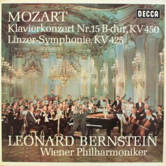 Mozart*, Leonard Bernstein, Wiener Philharmoniker - Klavierkonzert Nr.15 B-dur, KV 450 / Linzer-Symphonie, KV 425 (LP, Album)