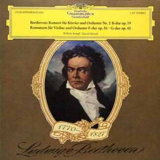 Beethoven*, Wilhelm Kempff, David Oistrach - Konzert Für Klavier Und Orchester Nr. 2 B-dur Op. 19 / Romanzen Für Violine Und Orchester F-dur Op. 50 - G-dur Op. 40 (LP, Comp, Club)