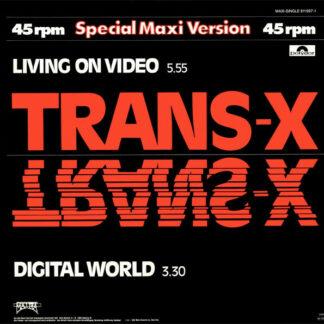"Trans-X - Living On Video / Digital World (12"", Maxi, Whi)"