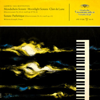 "Ludwig van Beethoven, Wilhelm Kempff - Klaviersonaten Cis-Moll Op. 27 Nr. 2 Und C-Moll Op. 13 (10"", Mono, RP)"