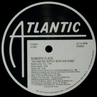 "Roberta Flack - Killing Me Softly With His Song (12"")"