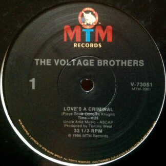 """The Voltage Brothers - Love's A Criminal (12"""", Single)"""