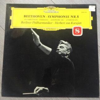 Beethoven* – Berliner Philharmoniker · Herbert von Karajan - Symphonie Nr. 8 / Ouvertüren: »Fidelio«»Leonore III«»Coriolan« (LP, Album, RE)