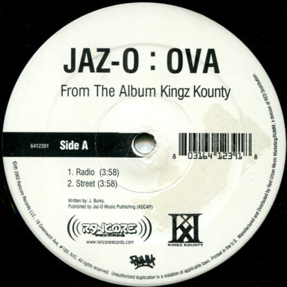 "Jaz-O - Ova (12"", Promo)"
