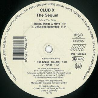 "Club X - The Sequel (La La La) (12"", Maxi)"
