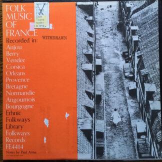 Various - Folk Music Of France (LP, Comp, Ora)