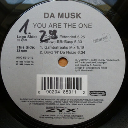 """Da Musk - You Are The One (12"""")"""