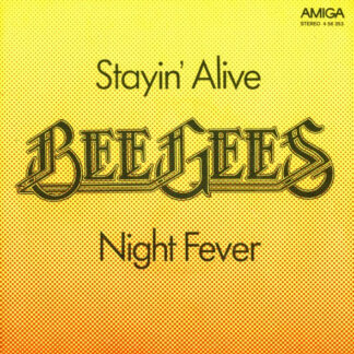 "Bee Gees - Stayin' Alive / Night Fever (7"", Single, RP, Dar)"