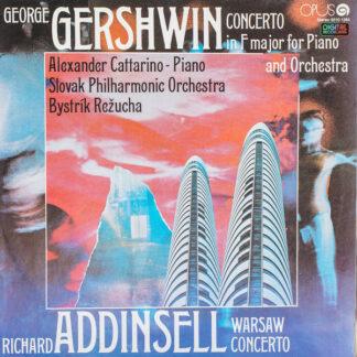 G. Gershwin*, Richard Addinsell  -  Slovak Philharmonic Orchestra, Alexander Cattarino - Concerto In F Major For Piano And Orchestra / Warsaw Concerto (LP, Album)