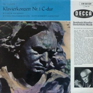 """Ludwig van Beethoven, Wilhelm Backhaus, Wiener Philharmoniker, Hans Schmidt-Isserstedt - Klavierkonzert Nr. 1 C-dur (10"""", Mono)"""