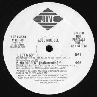 "Kool Moe Dee - No Respect / Let's Go (12"", Promo)"