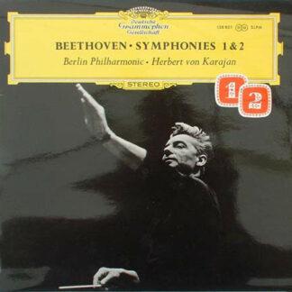 Beethoven* - Herbert von Karajan, Berlin Philharmonic* - Symphonies 1 & 2 (LP)
