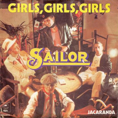 "Sailor - Girls, Girls, Girls (7"", Single, Yel)"