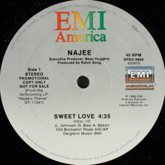 "Najee - Sweet Love (12"", Promo)"