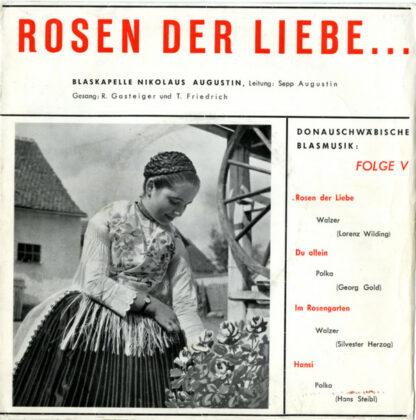 """Blaskapelle Nikolaus Augustin - Donauschwäbische Blasmusik, Folge V (7"""", EP)"""