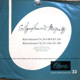 W. A. Mozart*, Monique de la Bruchollerie, Pro Musica Symphonie-Orchester, Wien*, Heinrich Hollreiser - Klavierkonzert Nr. 20 D-moll KV 466 - Klavierkonzert Nr. 23 A-dur KV 488 (LP, Mono, Club)