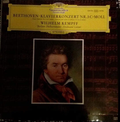 Beethoven* - Wilhelm Kempff · Berliner Philharmoniker · Ferdinand Leitner - Klavierkonzert Nr. 3 C-Moll (LP)