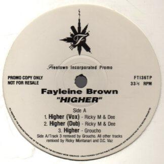 """Fayleine Brown - Higher (12"""", Promo)"""