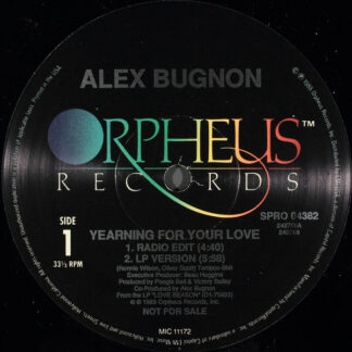 "Alex Bugnon - Yearning For Your Love (12"", Promo)"