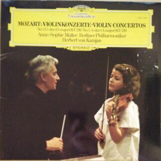 Mozart* - Anne-Sophie Mutter • Berliner Philharmoniker, Herbert von Karajan - Violinkonzerte • Violin Concertos (No.3 G-dur (G Major) KV 216 • No.5 A-dur (A Major) KV 219) (LP)