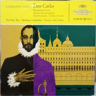 "Giuseppe Verdi – Kim Borg, Bamberger Symphoniker, Artur Rother - Don Carlos (7"", EP, Mono)"