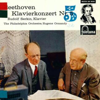 "Beethoven*, Rudolf Serkin, The Philadelphia Orchestra / Eugene Ormandy - Klavierkonzert Nr. 5 (10"")"