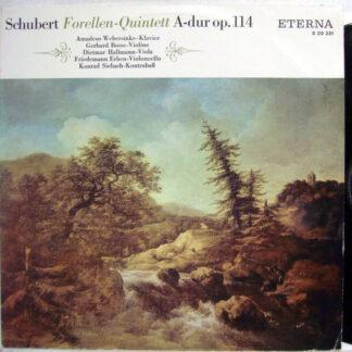 Schubert*, Amadeus Webersinke, Gerhard Bosse, Dietmar Hallmann, Friedemann Erben, Konrad Siebach - Forellen-Quintett A-dur Op. 114 (LP, Mono, RP)