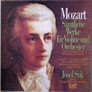 Wolfgang Amadeus Mozart, Josef Suk, Prager Kammerorchester* - Sämtliche Werke Für Violine Und Orchester (5xLP + Box)