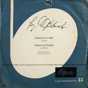 Franz Schubert, Bamberger Symphoniker, Heinrich Hollreiser - Sinfonie Nr. 4 C-Moll / Sinfonie Nr. 8 H-Moll (LP, Album)