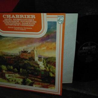 """Chabrier*, Detroit Symphony Orchestra, Paul Paray - España - Bourrée Fantasque - Joyeuse Marche - Fête Polonaise - Suite Pastorale - Dance Slave -  Ouverture De """"Gwendoline"""" (LP)"""