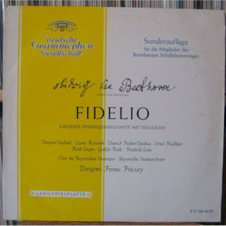 Ludwig van Beethoven, Ferenc Fricsay - Fidelio (LP, Mono, Club)